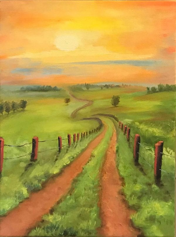 God's Road from Art By Candi K