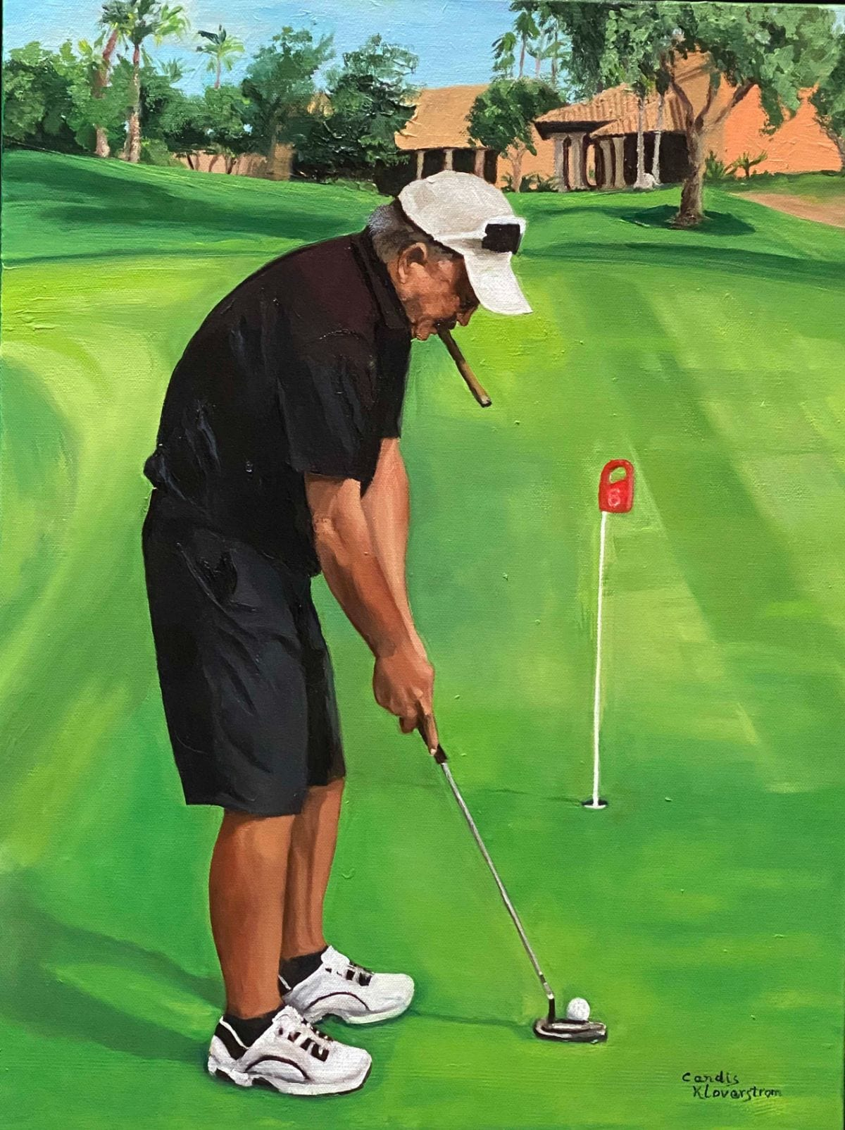 The Golfer from Art By Candi K
